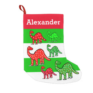 Kids Dinosaur Christmas Stocking Personalized Gift