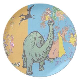 Kids Dinosaur party plate