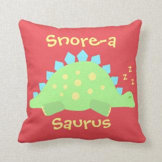 Kids Dinosaur Sleepy Baby Stegosaurus Throw Pillow