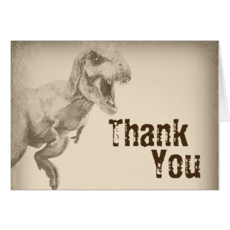 Kids Dinosaur Thank You Cards for Boys