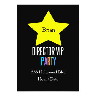 KIDS Director star vip party invitation Customize