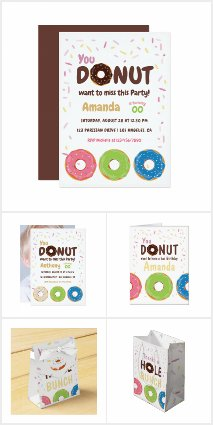Kids Donut themed Birthday Party Suite