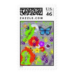 Kids Doodle Art Postage Stamp