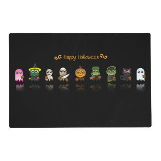 Kids Double Sided Halloween Placemat