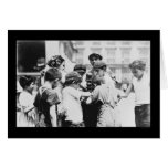 Kids Drinking on a Hot Day in New York City 1909 Card