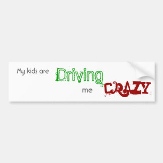 Kids drive me crazy bumper sticker