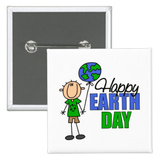 Kids Earth Day Gift Pinback Buttons