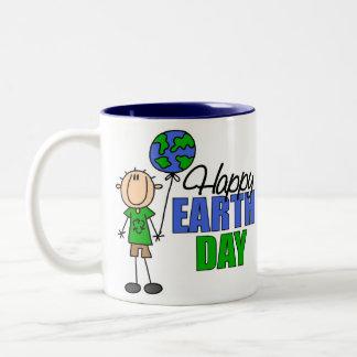 Kids Earth Day Gift Two-Tone Coffee Mug