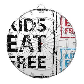Kids Eat Free grunge stamp Dartboards
