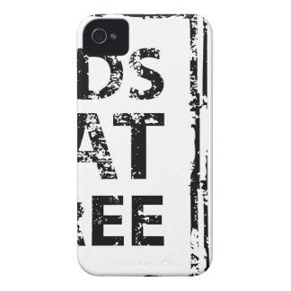 Kids Eat Free grunge stamp iPhone 4 Case-Mate Case