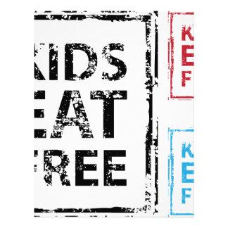 Kids Eat Free grunge stamp Letterhead