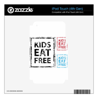 Kids Eat Free grunge stamp Skin For iPod Touch 4G