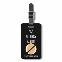 Kids Egg Allergy Alert with Epinephrine Image Luggage Tag