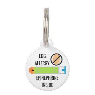 Kids Egg Allergy Epinephrine Inside Emergency Pet Name Tag