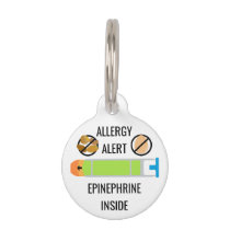Kids Egg Tree Nut Allergy Alert Epinephrine Inside Pet Tag