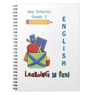 Kid's English Notebook-Customize Grade/Name/Class Notebook