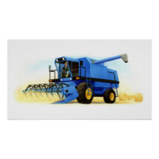 Kid's Farm and Farming - Combine Harvester Poster