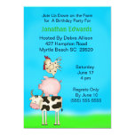 "Kids Farm Animal  Theme  Birthday Invitation 5"" X 7"" Invitation Card"
