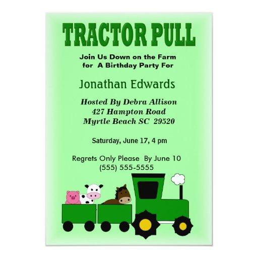 "Kids Farm  Theme  Birthday Invitation 5"" X 7"" Invitation Card"