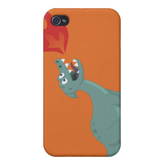 Kids Fire-Breathing Dinosaur Art by Jeff Nevins iPhone 4/4S Cases