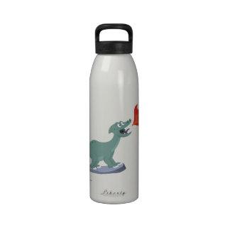 Kids Fire-Breathing Dinosaur Art by Jeff Nevins Drinking Bottles