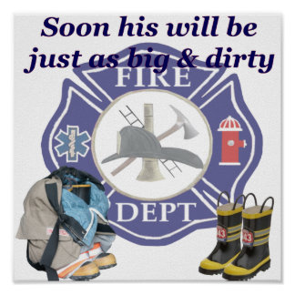 Kids Fire Dept Poster