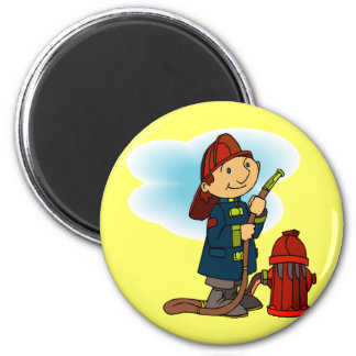 Kids Fire Fighter T Shirts and Gifts 2 Inch Round Magnet