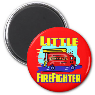 Kids Fireman T-shirts and Kids Fireman Gifts 2 Inch Round Magnet