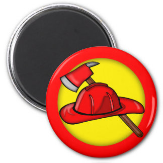 Kids Firemen T-shirts and Kids Firemen Gifts 2 Inch Round Magnet