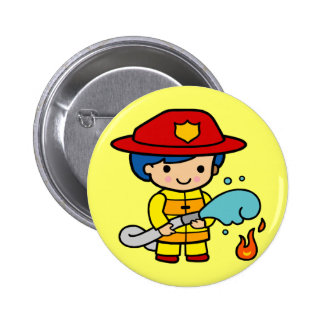 Kids Firemen Tee Shirts and Kids Gifts Button