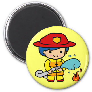 Kids Firemen Tee Shirts and Kids Gifts 2 Inch Round Magnet