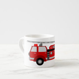 Kids Firetruck Small Size Ceramic Mug