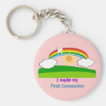 Kids First Communion T-Shirts and Gifts Basic Round Button Keychain