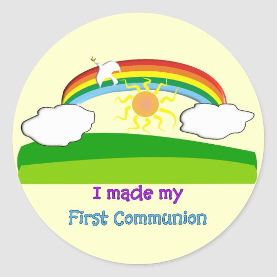 Kids First Communion T-Shirts and Gifts Classic Round Sticker