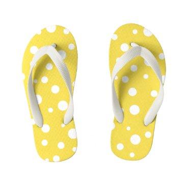 Beach Themed Kids Flip Flops-Polka Dots Kid's Flip Flops