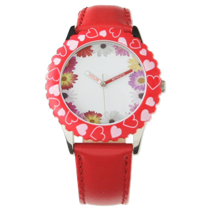 Kids Floral border custom watches