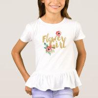Kids Flower Girl Bridesmaid Shirts Wedding Recepti