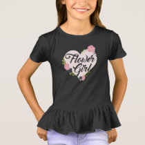 Kids Flower Girl Heart Bridesmaid Shirts Wedding