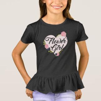 Kids Flower Girl Heart Bridesmaid Shirts Wedding