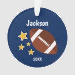 Kids Football Stars Personalized Ornament