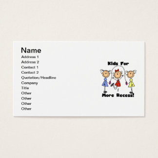 Kids For More Recess Business Card