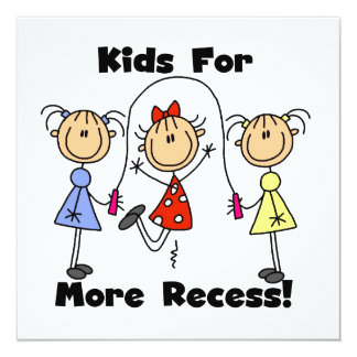 Kids For More Recess Personalized Invitations