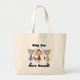 Kids for More Recess Large Tote Bag