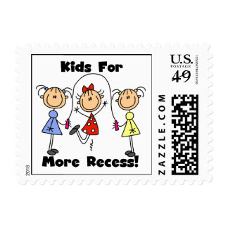 Kids For More Recess Stamps