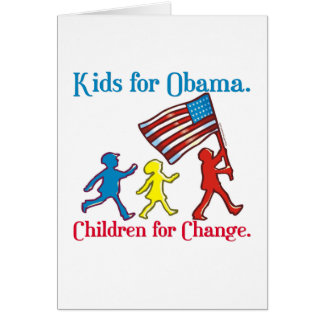 Kids for Obama Greeting Card
