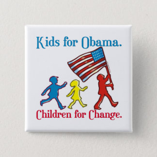 Kids for Obama Pinback Button