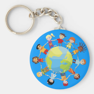 Kids for world peace keychain