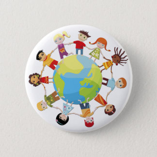 Kids for World Peace Pinback Button