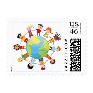 Kids for world peace stamp