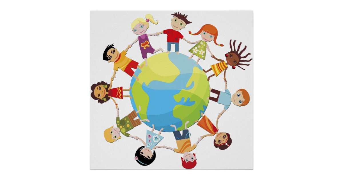 Kids For World Peace Poster Zazzle Com